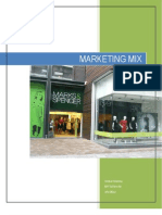 marks and spencer marketing mix