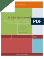 Metodologías para Análisis Químico de Suelos Y analisis de aguas equipo 7