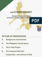 E-Trike Presentation for DOE-VFO, 06-19-12