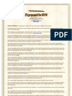Forcast for 2012 - Cosmic Awareness