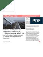 33 Talence (FR) _photovoltaïque & logements sociaux _article LeM2009