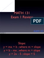 Math131 Exam 1