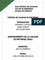 Aseguramiento de La Calidad de Software (SQA)