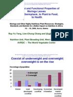 Nutritional and Functional Properties of Moringa