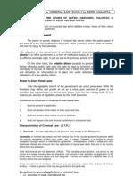 Callanta Notes Criminal Law1