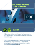 Gears ,Types and Its