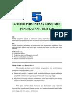 Modul 5 Teori Permintaan Konsumen Dan Pendekatan Utility