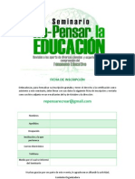 Ficha Inscripción - Seminario Repensar Educación