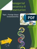 Managerial Economics-II Presentation