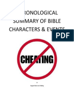 Chronological Summary of Bible Characters