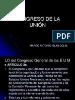 ESTRUCTURA DEL CONGRESO DE LA UNIÓN MEXICANO