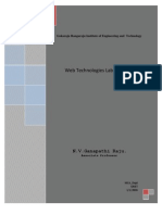 Web Technologies Manual
