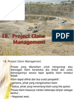16. Project Claim Management