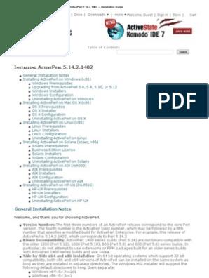 ActivePerl 5 14 2 | Installation (Computer Programs