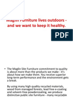 Maglin Furniture Lives Outdoors