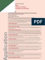 Swinburne Research Application Form International
