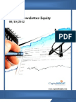 Weekly Equity Newsletter 08-10-2012