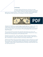 History of United States Currency - Corporate Governance