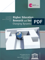 Higher Education, Research and Innovation