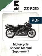Kawasaki Zzr250!90!96 Supp
