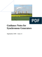 50096310 Guidance Notes for Synchronous Generators Grid Connection