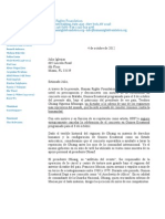 Carta de Thor Halvorssen a Julio Iglesias