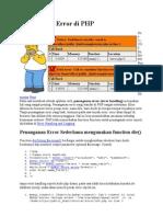 Penanganan Error Di PHP