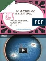 Optika Geometri Dan a'lat- alat optik
