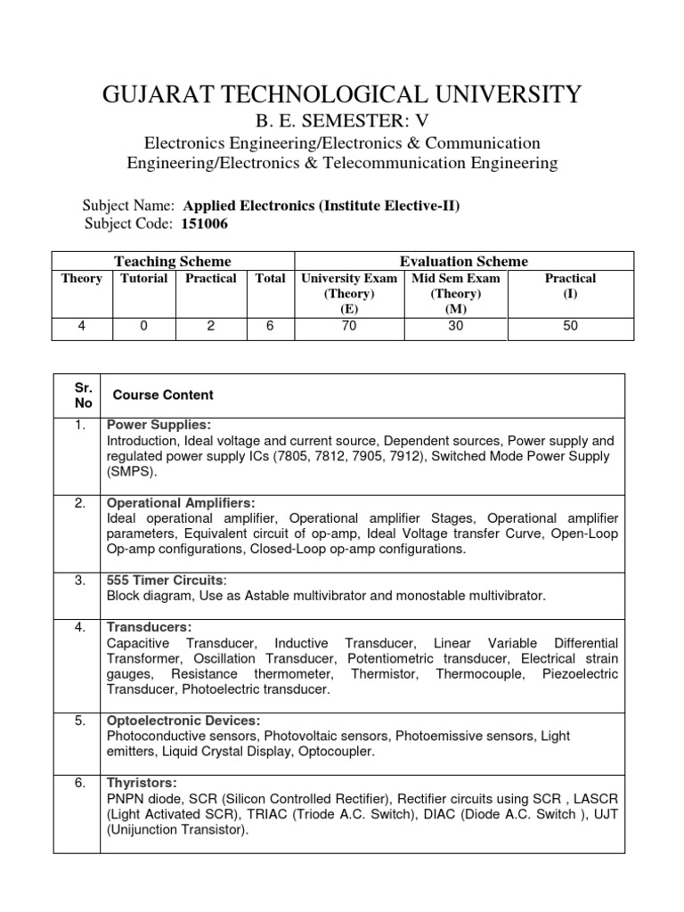Applied Electronics Institute Elective Ii Operational Amplifier Related Circuits Scr Pulse Detection Circuit Using 555 Based