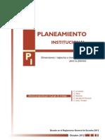 planificación institucional