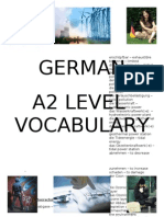 German A2 Level Vocabulary List