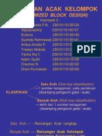 Presentasi Praktikum Rancangan Penelitian  - Rancangan Acak Kelompok