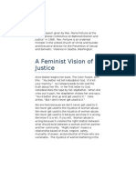 A Feminist Vision of Justice