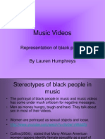 Music Videos-Representation of Black People