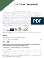 Play Framework + Eclipse + Postgresql + Mercurial