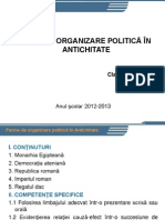 Forme de Organizare Politica in Antichitate