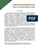 Paradigma Psihologica a Integrarii Copilului in Familia Substitutiva, Petru Stefaroi