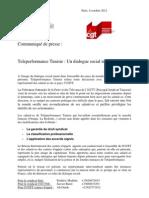 Communiqué intersyndical CGT/SUD sur Téléperformance Tunisie