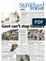 Manila Standard Today -- Tuesday (October 09, 2012) issue