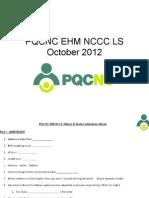 PQCNC HM NCCC2 Data / Action Plan