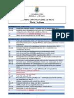 Calendário Universitário - 201_2 - pós-greve