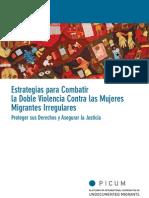 Estrategias Para Combatir La Doble Violencia Contra Las Mujeres Migrantes Irregulares