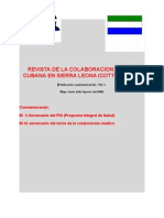 Revista de La Colaboracion Medica en Sierra Leona Vol 1 No 1