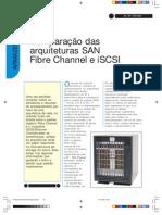 Comparação SAN FIBRE CHANNEL E ISCSI