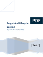 Target & Life Cycle Costing