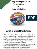 Marketing Management – I Presentation