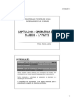 MECÂNICA DOS FLUIDOS - Capitulo 04 - 1a Parte