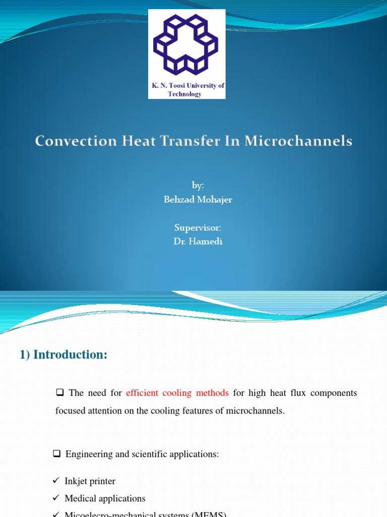 Convection Heat Transfer in Micro-channels | Fluid Dynamics | Reynolds  Number