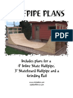 Half Pipe Plans