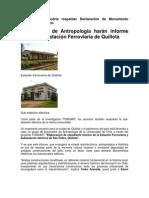 Proyecto Elaboración Expediente Técnico Estación ferroviaria y Sub-estación eléctrica de San Pedro (Quillota)